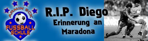 Armin Eck im Zweikampf gegen Diego Maradona